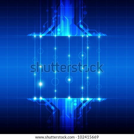 vector abstract technology with fiber optic background - stock vector