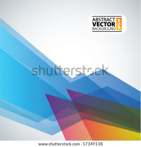 Vector abstract trendy background - stock vector