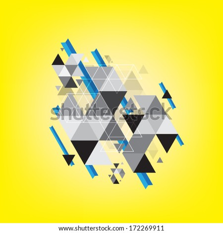 vector abstract triangle geometry pattern background - stock vector