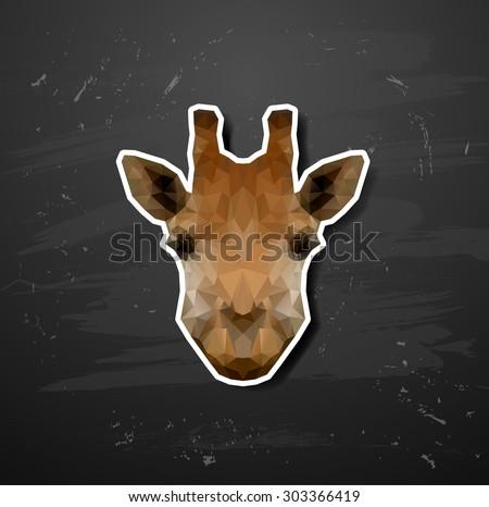 vector abstract triangle polygonal giraffe abstract triangle polygonal - stock vector