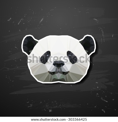 vector abstract triangle polygonal panda abstract triangle polygonal - stock vector