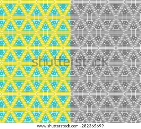 Vector Abstract Triangle Seamless Pattern - stock vector