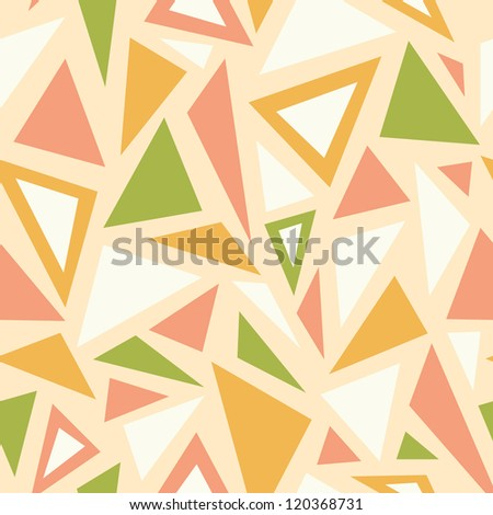 Vector abstract triangles seamless pattern background with many blue triangular shapes - stock vector