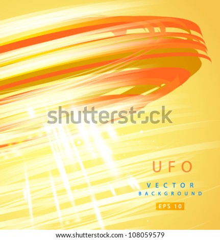 Vector abstract UFO background - stock vector