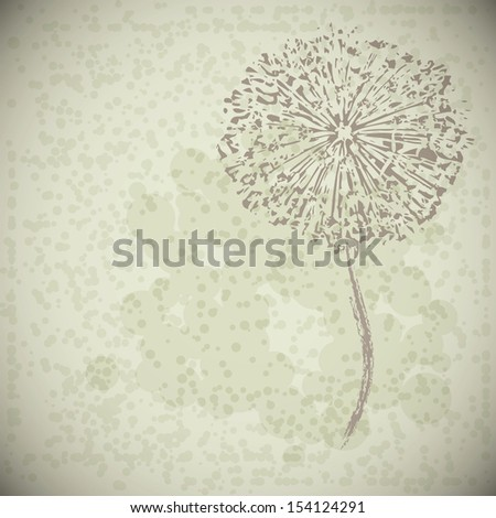 vector abstract vintage flower - stock vector