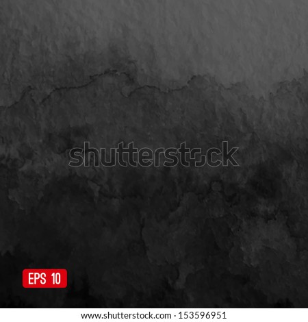 Vector abstract watercolor background. Black background. Design template with place for your text. Watercolor backdrop can be used for web page background, identity style, printing, etc. - stock vector