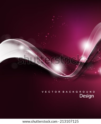 Vector Abstract Wave Background - stock vector