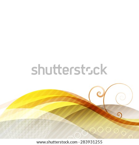 vector abstract wave background design, presentation template - stock vector