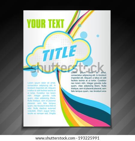 vector abstract wave brochure flyer template design - stock vector