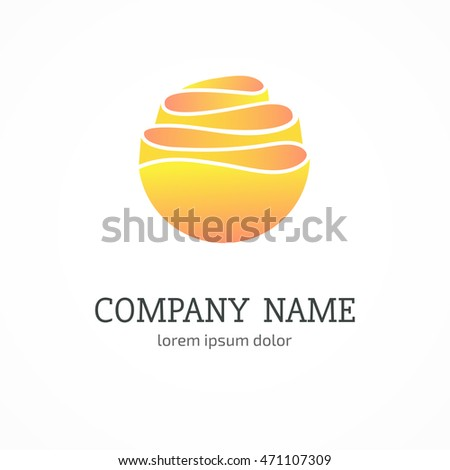 Vector abstract wave logo template.