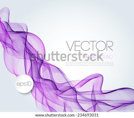 Vector Abstract wave template  background brochure design - stock vector