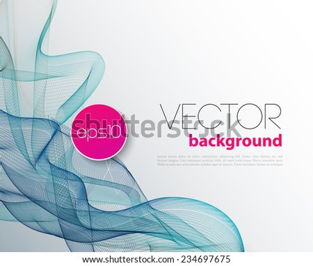Vector Abstract wave template  background brochure design - stock vector