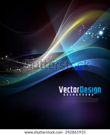 Vector Abstract Wavy Background - stock vector