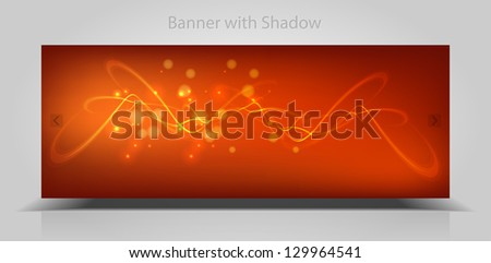 vector abstract web banner - stock vector