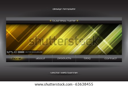 vector abstract web banner - stock vector