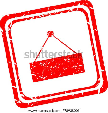 vector Abstract web design background with empty screen vector red rubber stamp - stock vector