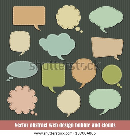 Vector abstract web design bubble and clouds