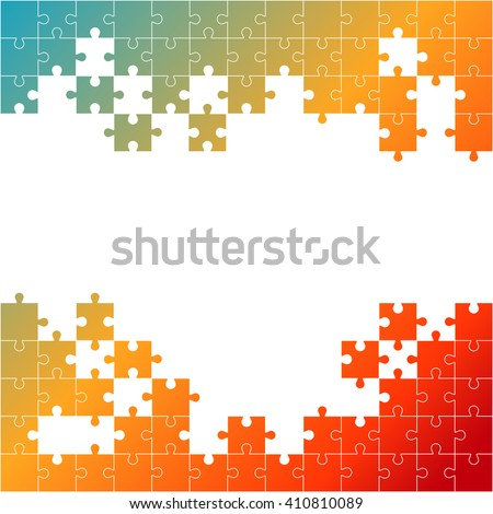 Vector Abstract white background made from colors puzzle pieces and place for your content - stock vector