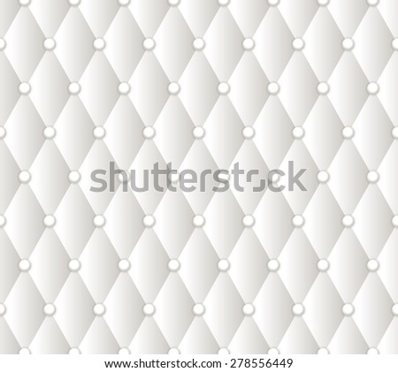 Vector abstract white upholstery background. For cover design - stock vector