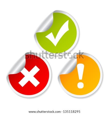 Vector access stickers - stock vector