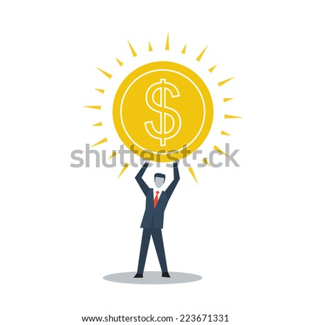 vector accounting manager - stock vector