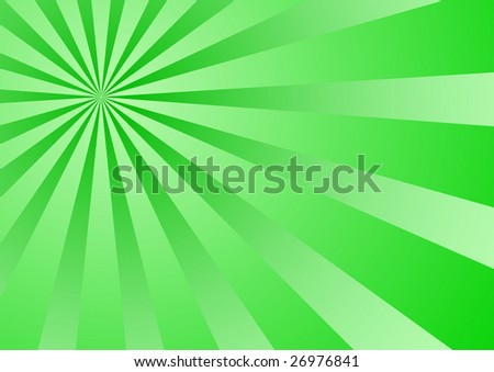 Vector acid sunburst of green tones (gradient used) - stock vector