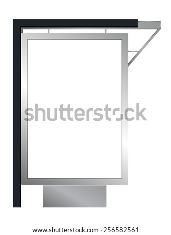 Vector advertising billboard or citylight - stock vector