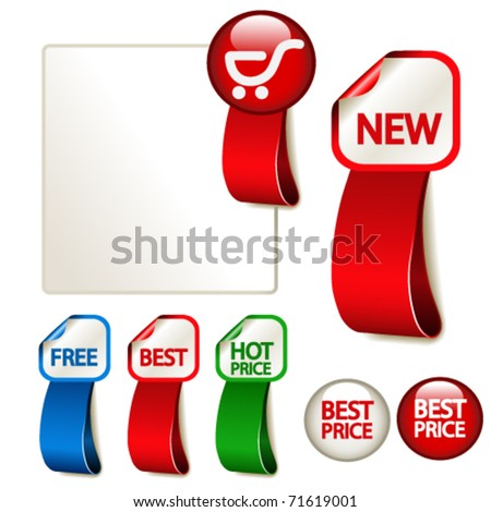 Vector advertising labels