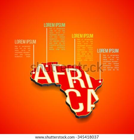 Vector Africa Infographics Design Africa Map Stock Vector