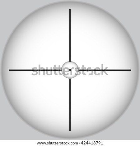Vector aim icon of sniper rifle on gray background - stock vector