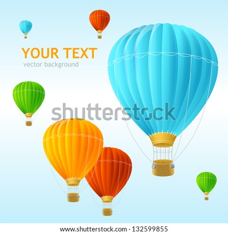 Vector air ballons background - stock vector