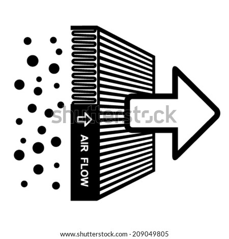 vector air filter effect symbol - stock vector