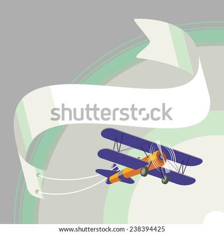 vector airplane cartoon - stock vector