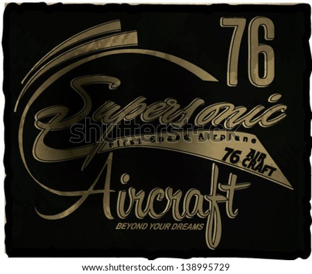 Vector airplane font - stock vector