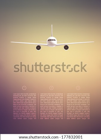 vector airplane illustration - stock vector