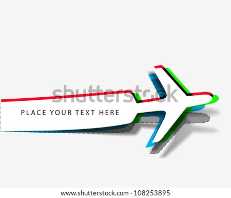 Vector airplane stickers  Vector Illustration. - stock vector