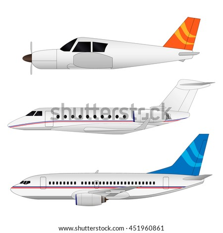 vector airplanes set