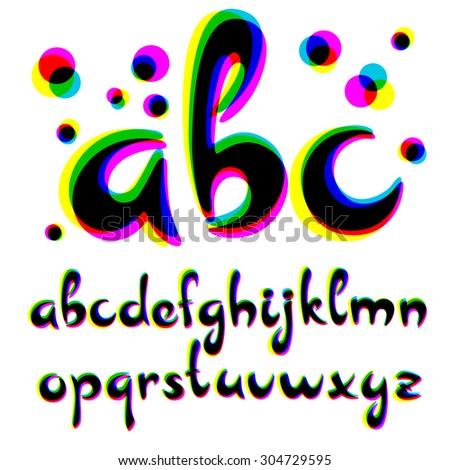 Vector alphabet. Cool vector font.  - stock vector