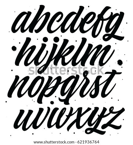 Vector Alphabet Exclusive Custom Letters Isolated Stock