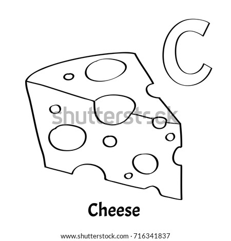Vector Alphabet Letter C Coloring Page Stock Vector 716341837 ...