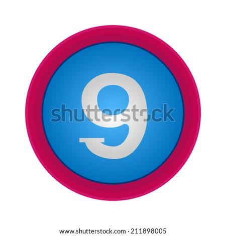 Vector Alphabet, number 9, EPS10  - stock vector