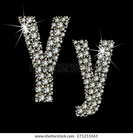 Vector alphabet of gemstones. EPS 10. - stock vector