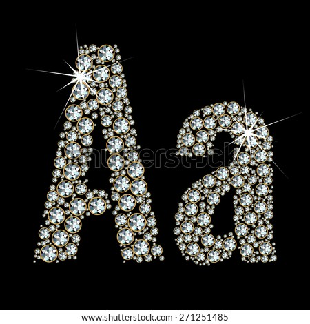 Vector alphabet of gemstones. EPS 10. - stock vector