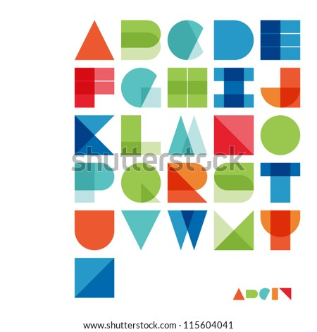Vector Alphabet Set - stock vector