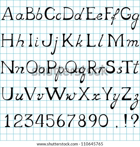 vector Alphabet, uppercase and lowercase letters - stock vector