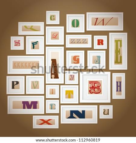Vector Alphabets Gallery - stock vector