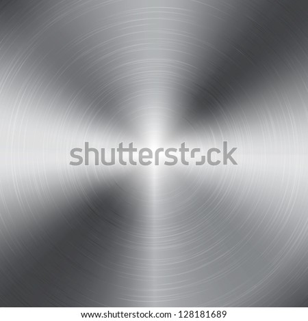 Vector aluminium metal texture - stock vector