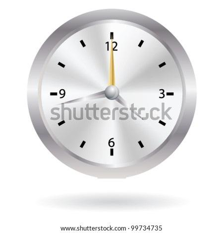 Vector Aluminum Wall Clock