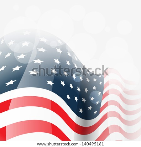 vector american flag background illustration - stock vector