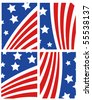 Vector American Flag Set - stock vector